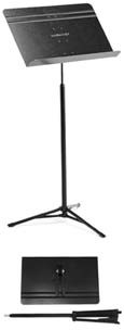 Folded concert style music stand
