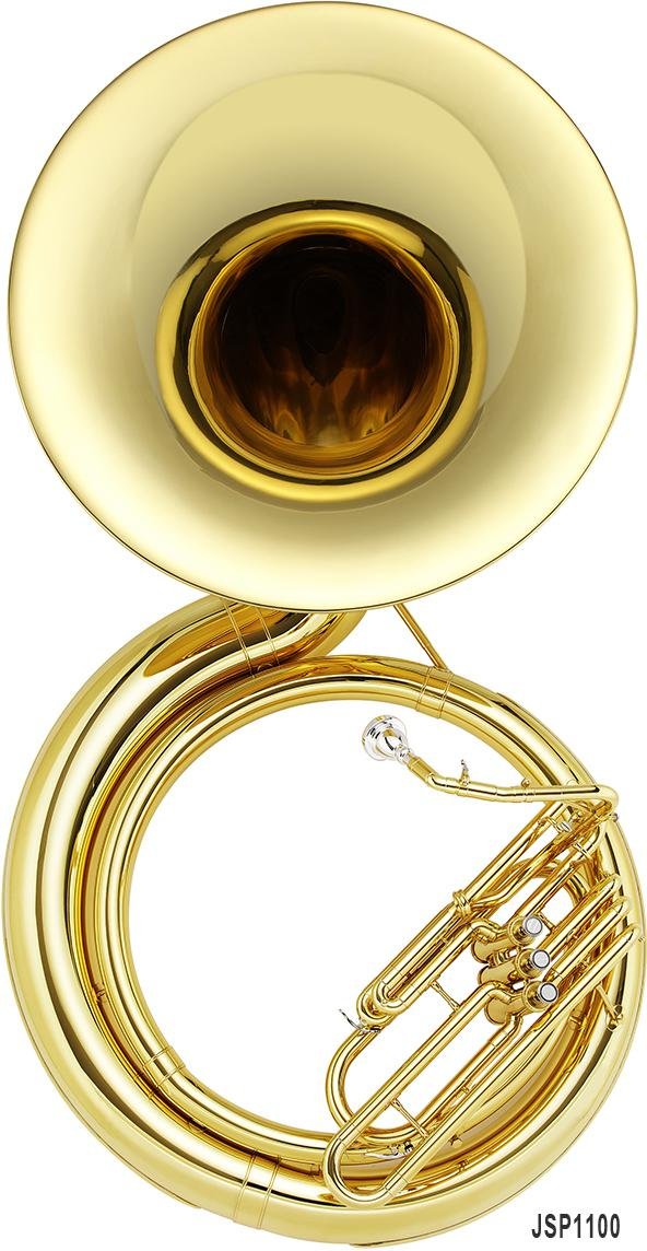 Bb metal sousaphone, 3 or 4 valves